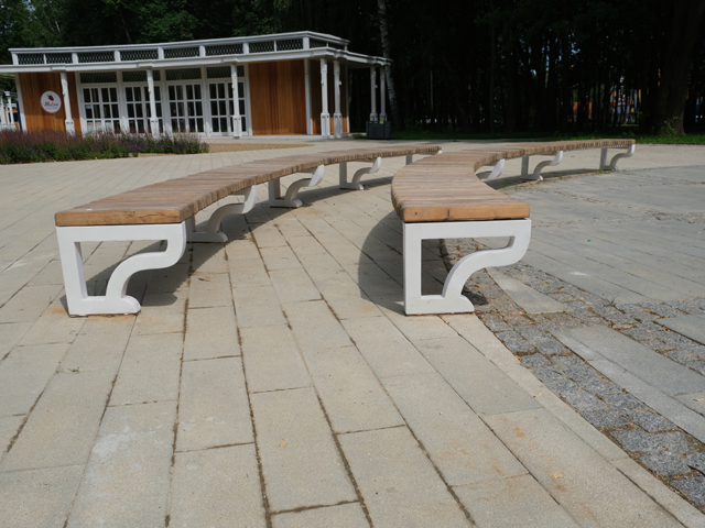 Скамейка радиусная